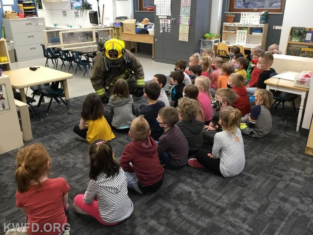 3/23 Kids Fire Safety and Awareness Class at Mercy One: Thanks to Dan White
